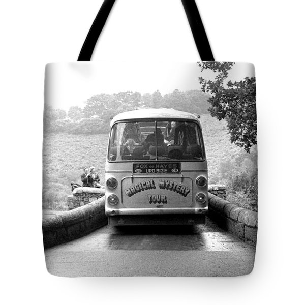Beatles Magical Mystery Tour Bus Tote Bag by Chris Walter