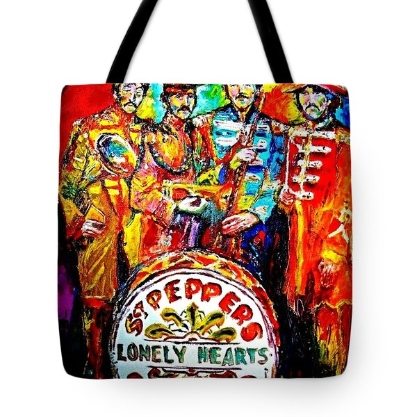 Beatles Sgt. Pepper Tote Bag by Leland Castro