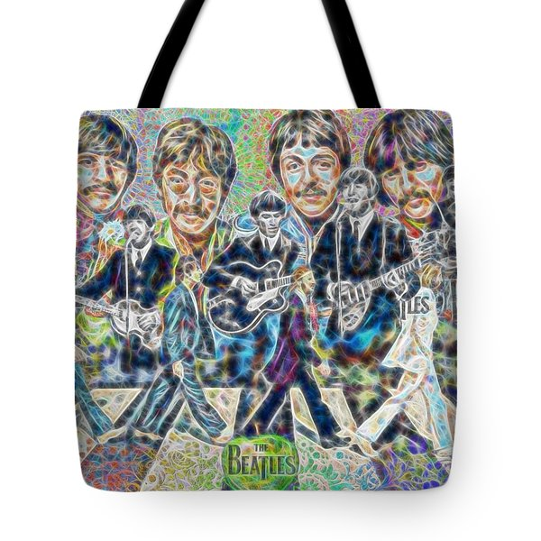 Beatles Tapestry Tote Bag