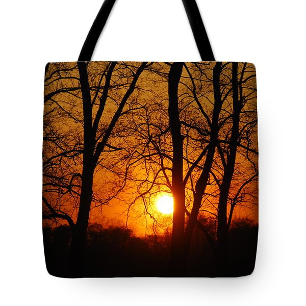Beauatiful Red Sunset Tote Bag