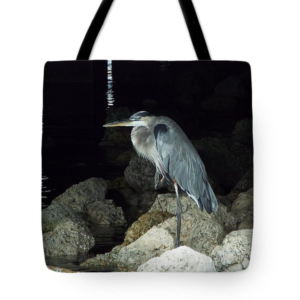 Beautiful And Patience Heron Tote Bag