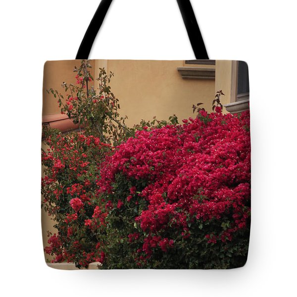 Beautiful Balcony With Bougainvillea Tote Bag by Ivete Basso Photography