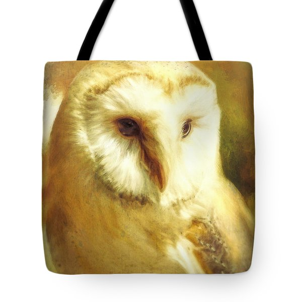 Beautiful Barn Owl Tote Bag by Tina LeCour