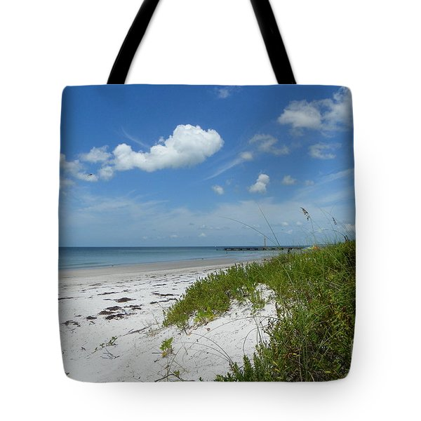 Tote Bag featuring the photograph Beautiful Beach Day by Carol  Bradley