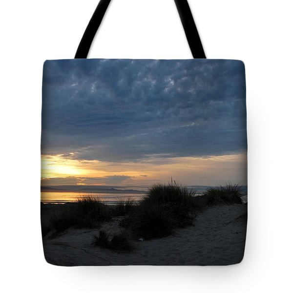 Beautiful Beach San Dunes Sunset And Clouds Tote Bag