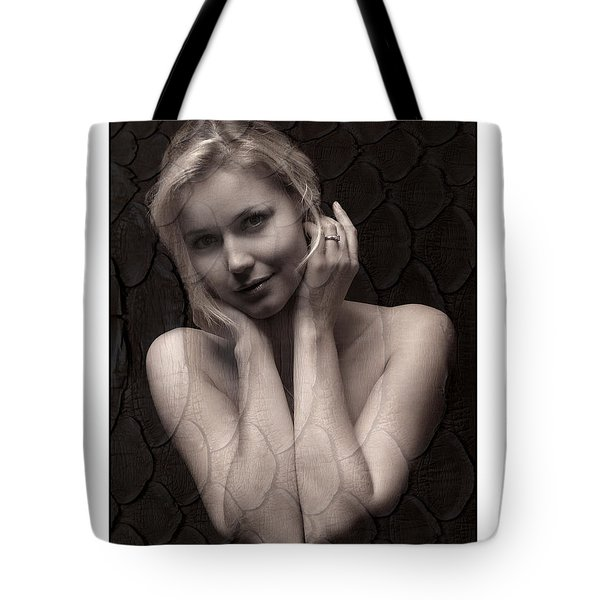 Beautiful Blonde Posing Tote Bag