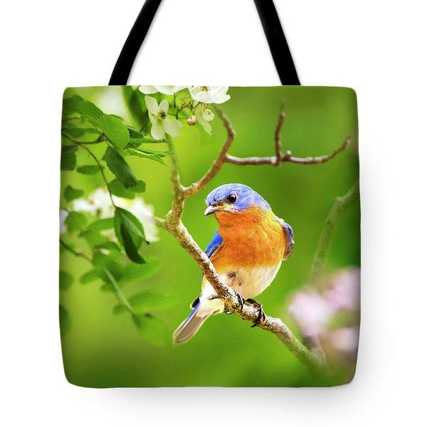 Beautiful Bluebird Tote Bag by Christina Rollo