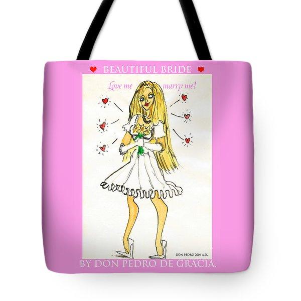 Beautiful Bride Tote Bag