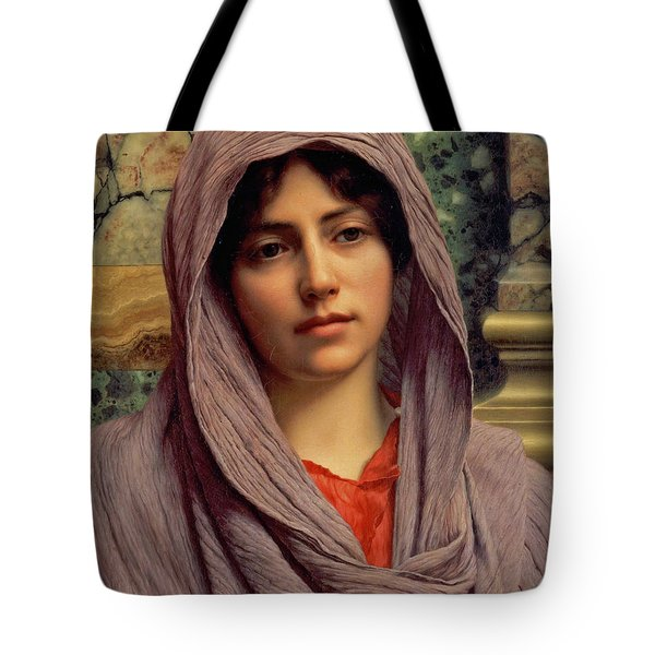 Beautiful Brunette 1918 Tote Bag by Padre Art