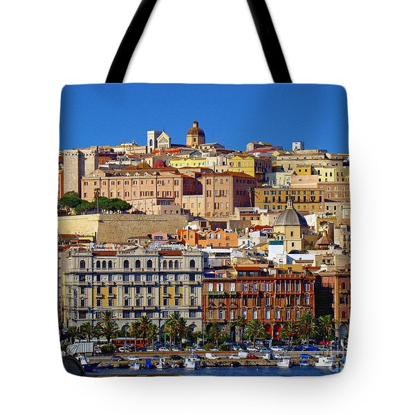 Tote Bag featuring the photograph Beautiful Cagliari by Sue Melvin