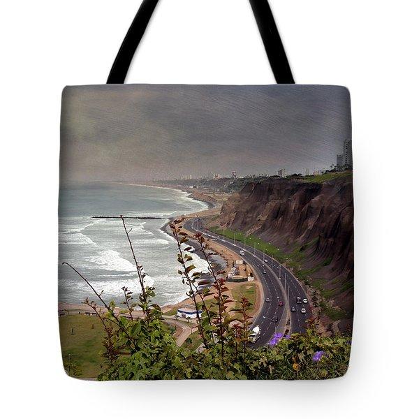 Beautiful Coastline Of Lima Tote Bag