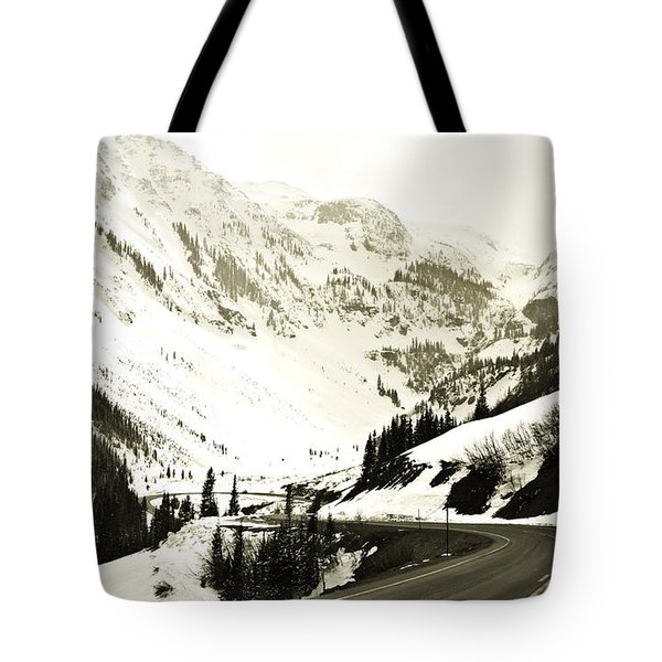 Beautiful Curving Drive Through The Mountains Tote Bag by Marilyn Hunt