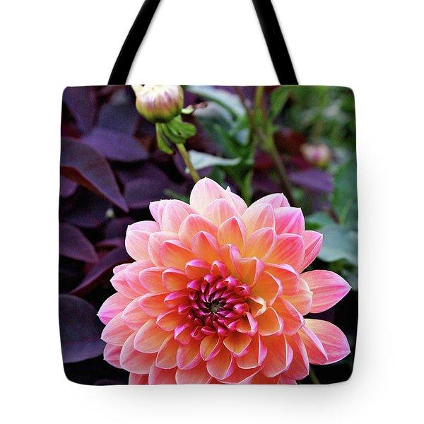 Beautiful Dahlia Tote Bag