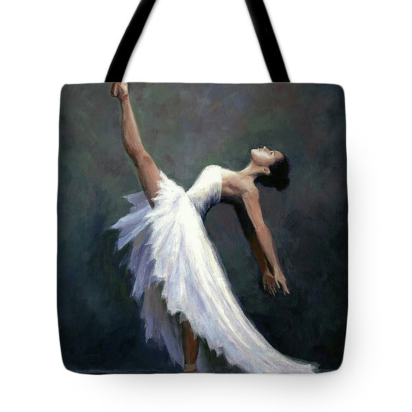 Beautiful Dancer Tote Bag by Janet King
