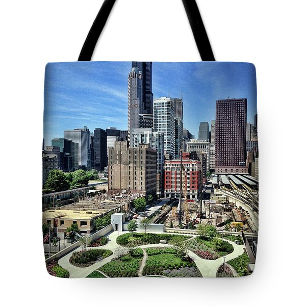 beautiful day and view of Chicago Tote Bag