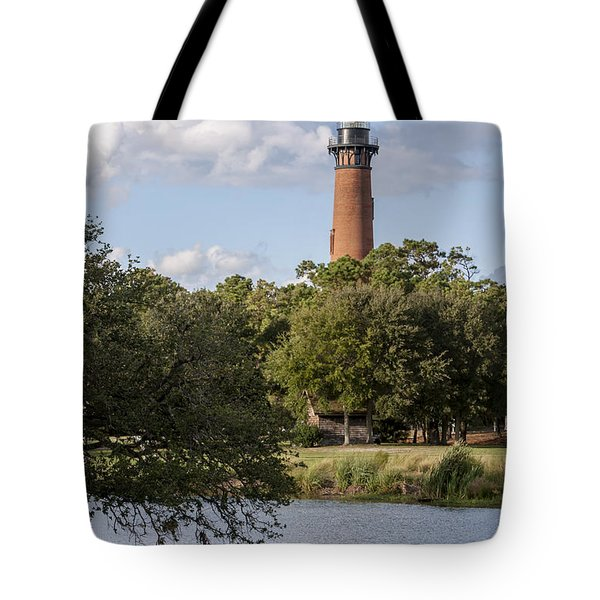 Beautiful Day At Currituck Beach Lighthouse Tote Bag