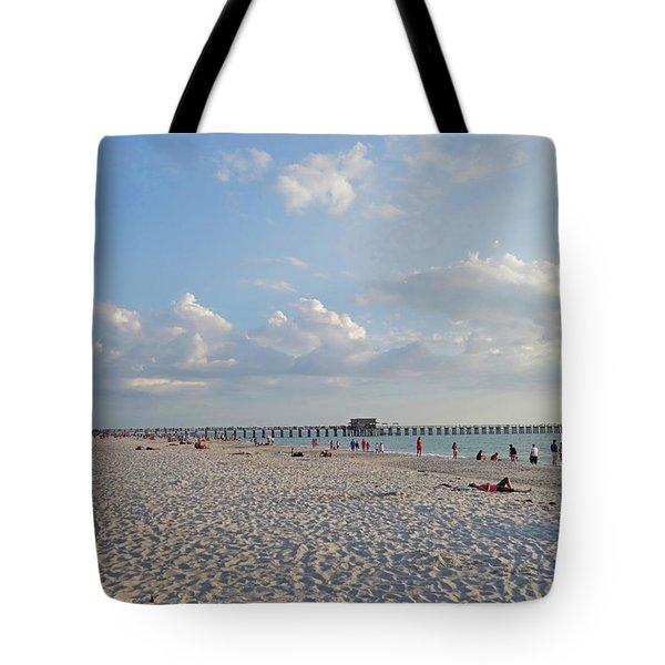 Beautiful Day On Naples Beach Naples Florida Tote Bag