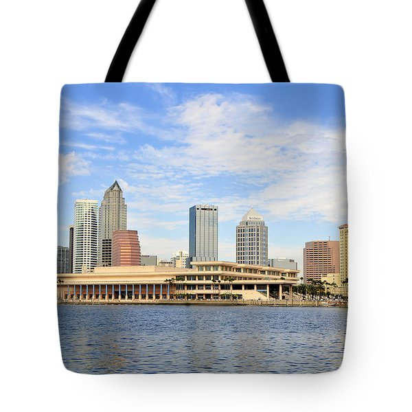 Beautiful Day Tampa Bay Tote Bag by David Lee Thompson