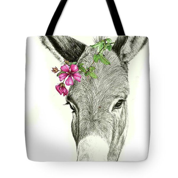 Beautiful Donkey Tote Bag by Heidi Kriel