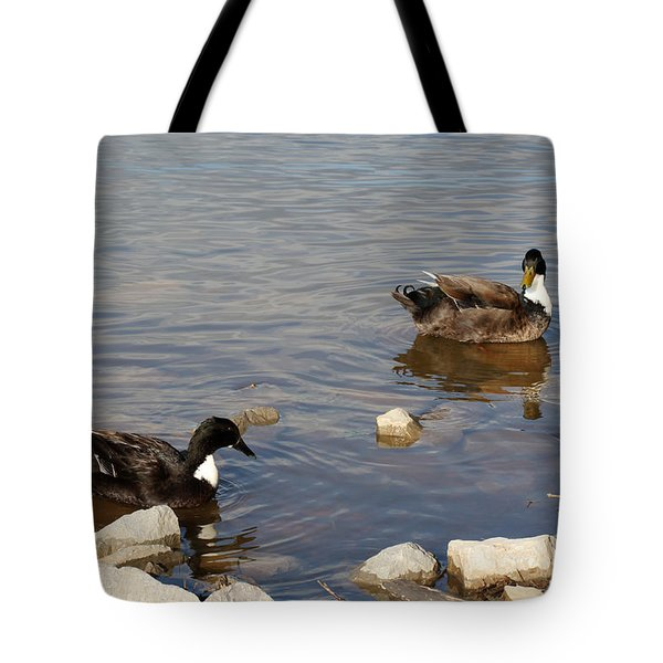 Tote Bag featuring the photograph Beautiful Ducks by Todd Blanchard