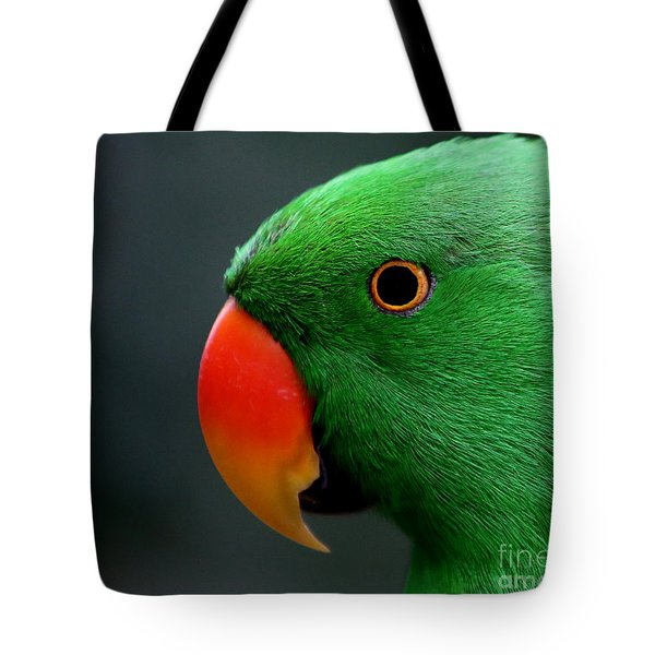 Beautiful Eclectus Parrot Tote Bag