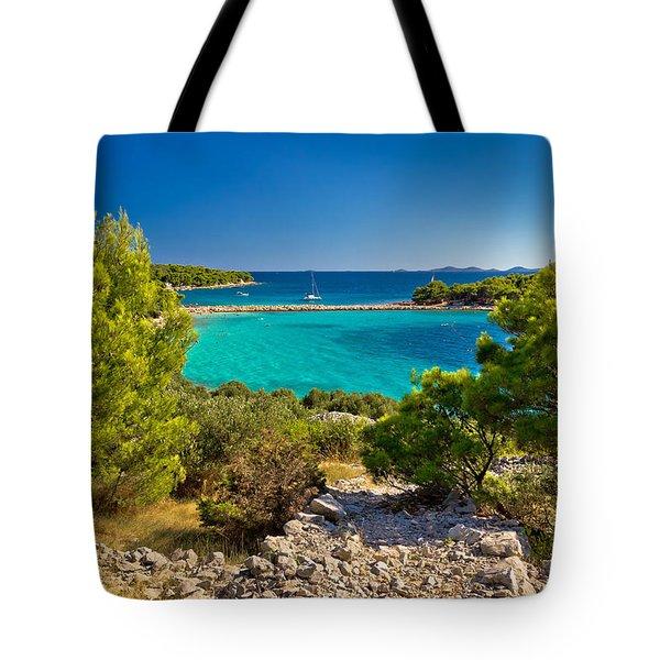 Beautiful Emerald Beach On Murter Island Tote Bag