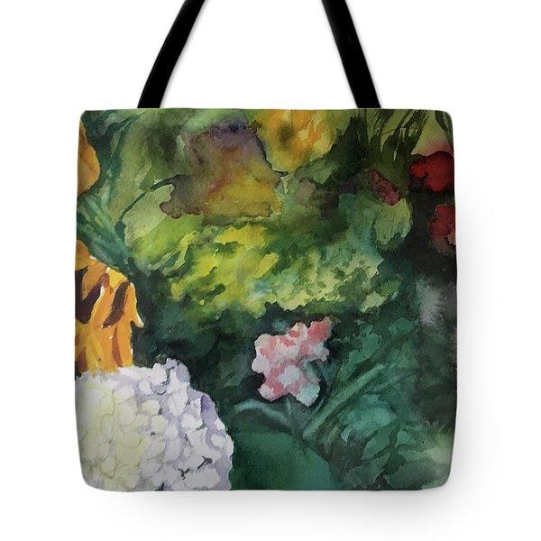 Beautiful Floral Jumble Tote Bag
