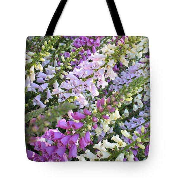 Beautiful Foxglove Tote Bag by Carol Groenen