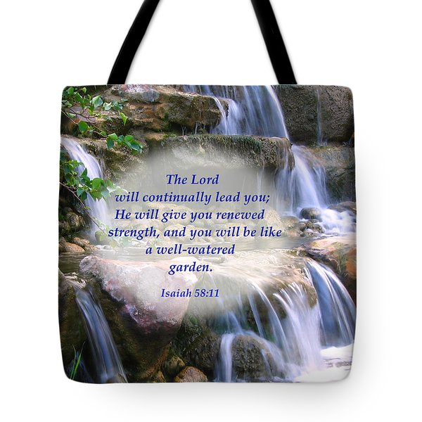 Tote Bag featuring the photograph Beautiful Garden And Waterfall by Yali Shi