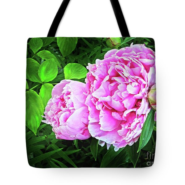 Beautiful Garden Peony Tote Bag by Patricia L Davidson