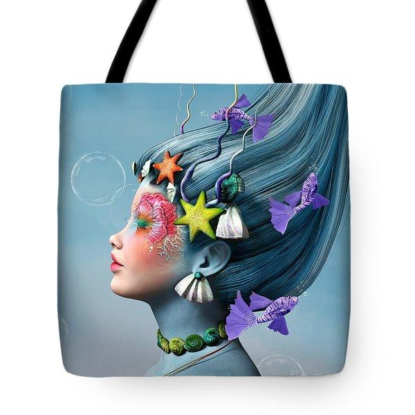 Fantasy Water Girl Tote Bag