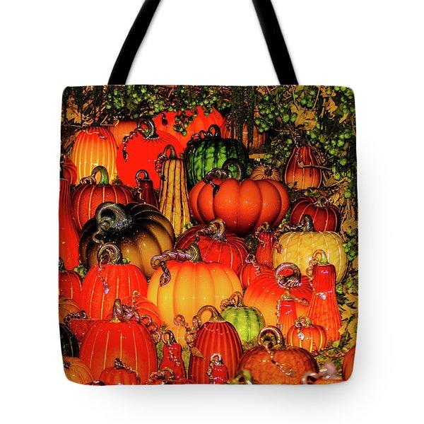 Tote Bag featuring the photograph Beautiful Glass Pumpkins by Louis Dallara