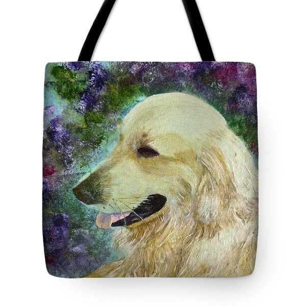 Tote Bag featuring the painting Beautiful Golden by Claire Bull