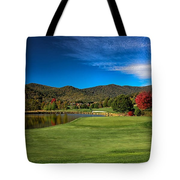 Tote Bag featuring the photograph Colorful Golf by Claire Turner
