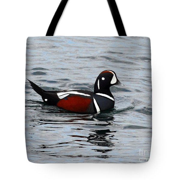 Beautiful Harlequin Duck Tote Bag