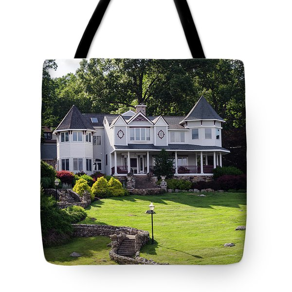 Beautiful Home On Lake Hopatcong Tote Bag by Maureen E Ritter