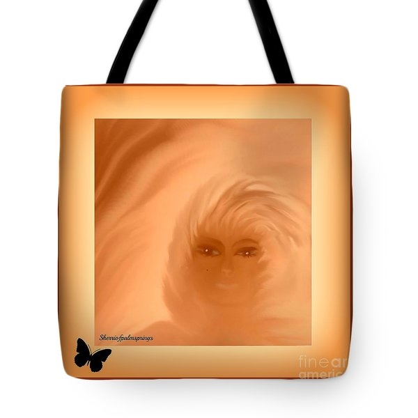 Tote Bag featuring the painting Beautiful Is In The Eyes Of The Beholder By Sherriofpalmsprings by Sherri  Of Palm Springs