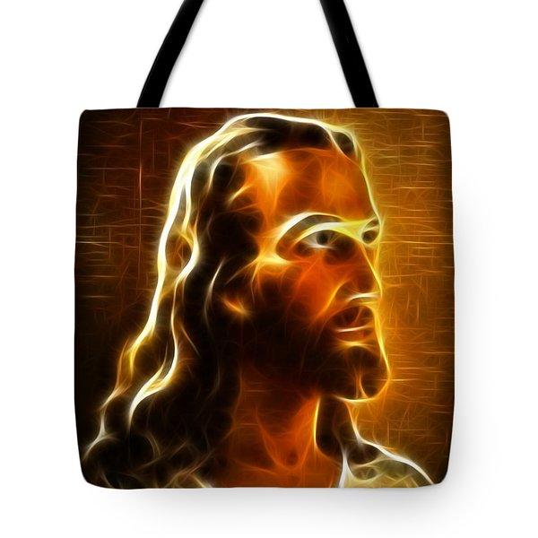 Beautiful Jesus Portrait Tote Bag by Pamela Johnson