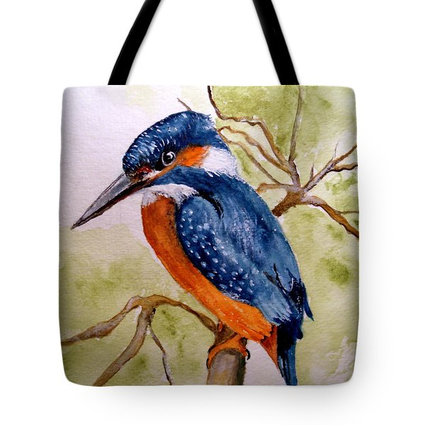 Beautiful Kingfisher Tote Bag