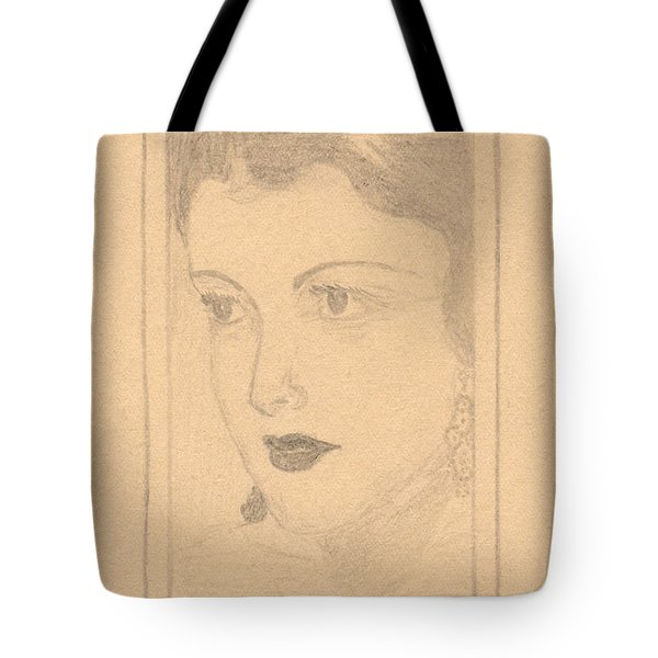 Beautiful Lady Face Tote Bag