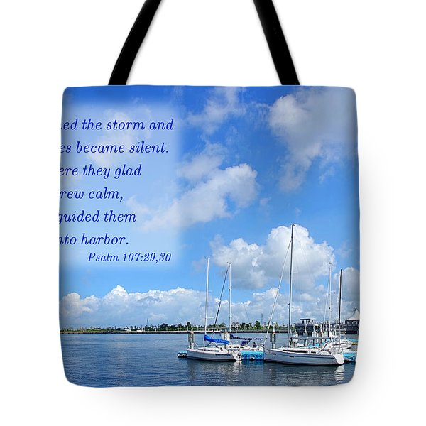 Tote Bag featuring the photograph Beautiful Marina And Sky Panorama by Yali Shi