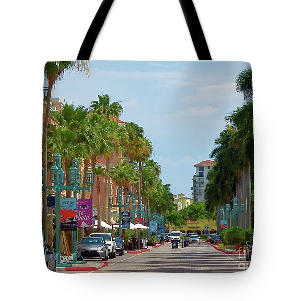 Beautiful Mizner Park In Boca Raton, Florida. #10 Tote Bag