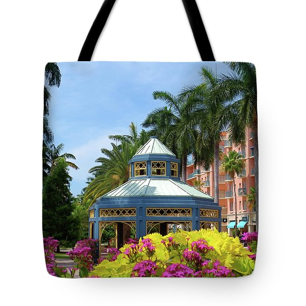 Beautiful Mizner Park In Boca Raton, Florida. #3 Tote Bag
