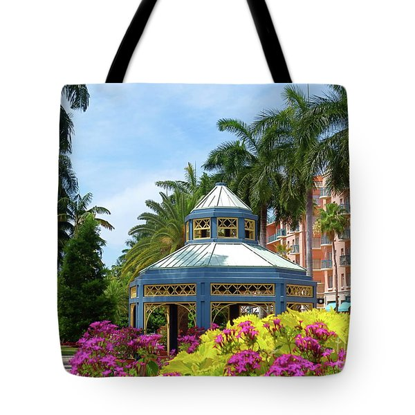 Beautiful Mizner Park In Boca Raton, Florida. #4 Tote Bag