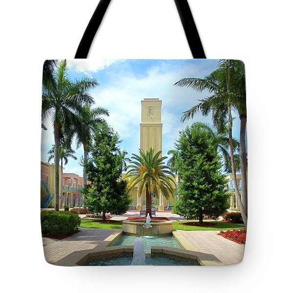 Beautiful Mizner Park In Boca Raton, Florida. #6  Tote Bag