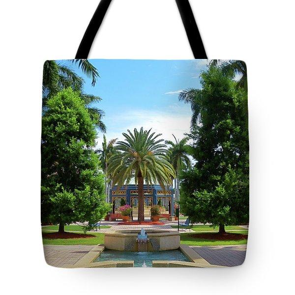Beautiful Mizner Park In Boca Raton, Florida. #8 Tote Bag