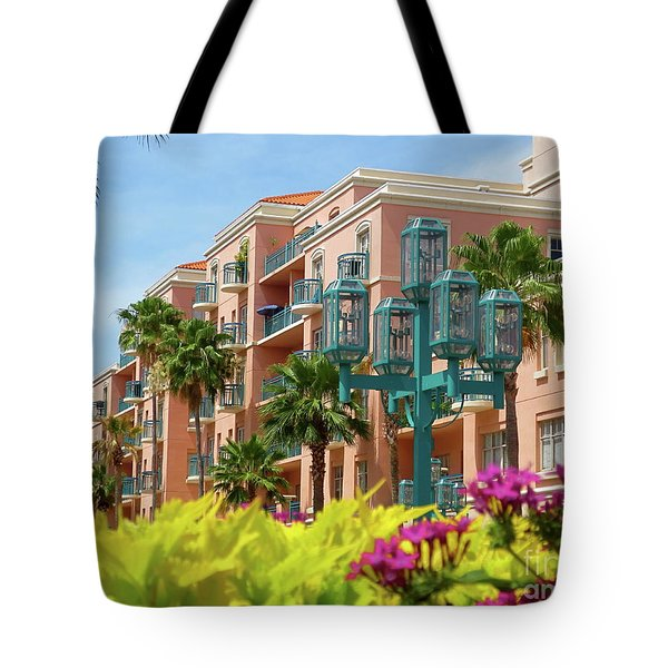 Beautiful Mizner Park In Boca Raton, Florida. #9 Tote Bag