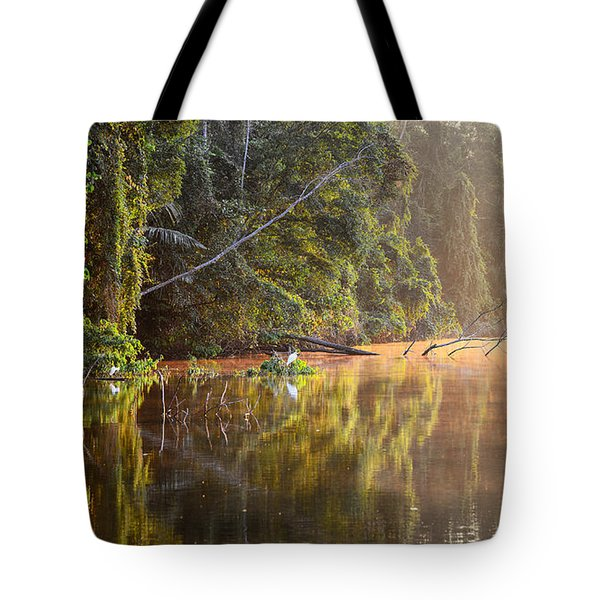 Beautiful Morning On A Lake Tote Bag