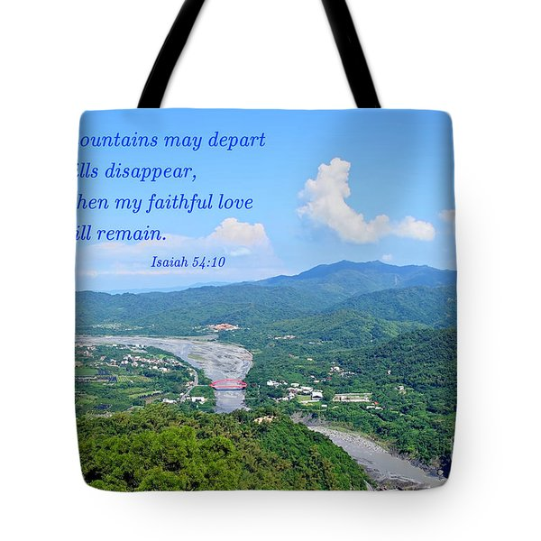 Tote Bag featuring the photograph Beautiful Mountains And River Of Southern Taiwan by Yali Shi