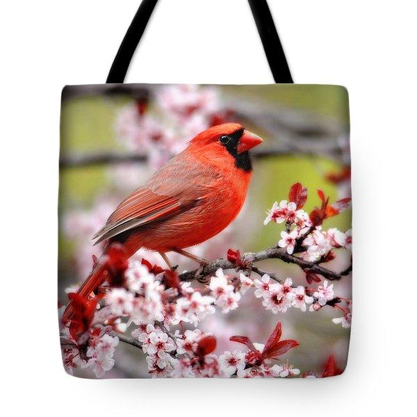 Beautiful Northern Cardinal Tote Bag